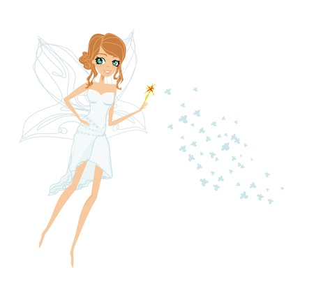 nymph: beautiful fairy vector graphic  Illustration