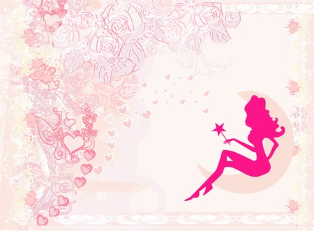 floral background with a beautiful fairy Stock Vector - 13933480