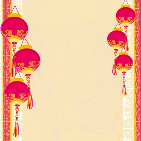 Chinese New Year card Stock Vector - 13971573