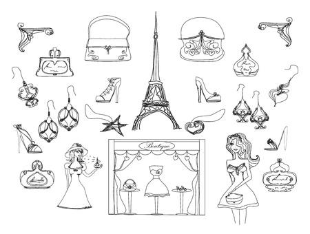 París garabatos de moda creado
