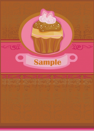 Lovely Cupcake Design  Stock Vector - 14020590