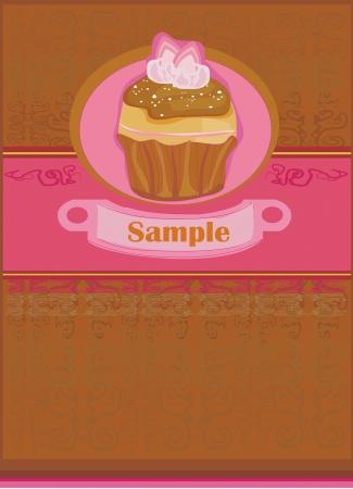 Lovely Cupcake Design Stock Vector - 14020590