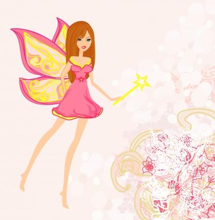beautiful fairy vector graphic Vector