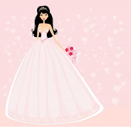 silhouette of bride: Beautiful bride