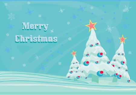 Abstract christmas tree card Stock Vector - 14037657