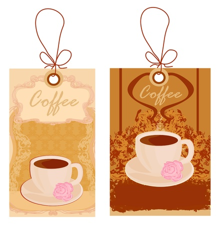menu coffee shop price tags  Vector