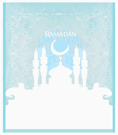 feter: Ramadan background - mosque silhouette  Illustration