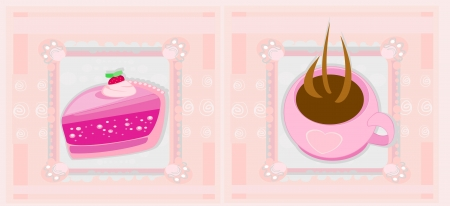sweet dessert set  Stock Vector - 14157736