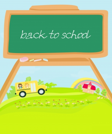 cute back to school illustration Vector