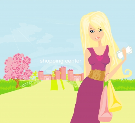 shoptalk: fashion girl Shopping illustration