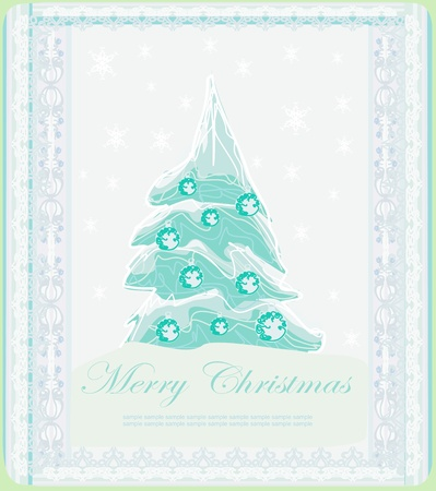 Abstract christmas tree card  Stock Vector - 14165474