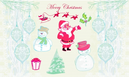 hand drawn christmas doodles  Vector