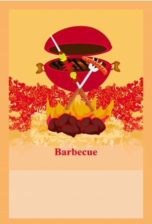 Barbecue Party Invitation  Stock Vector - 14192132