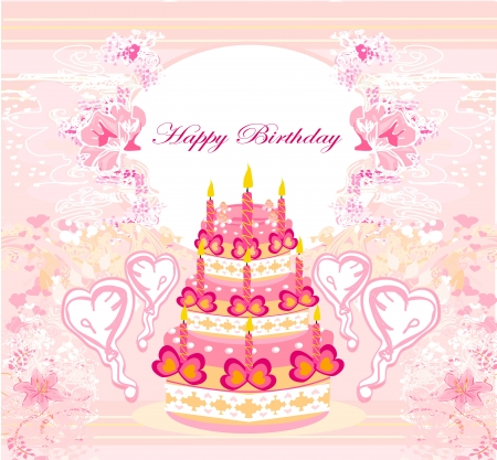 Happy Birthday Card Stock Vector - 14192096