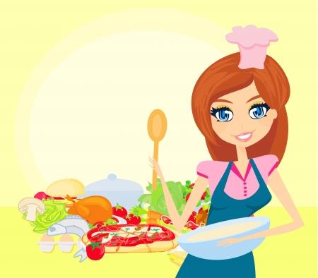 Cocinar bella dama