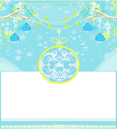 Christmas Framework style card  Vector