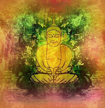 Chinese Traditional Artistic Buddhism Pattern  photo