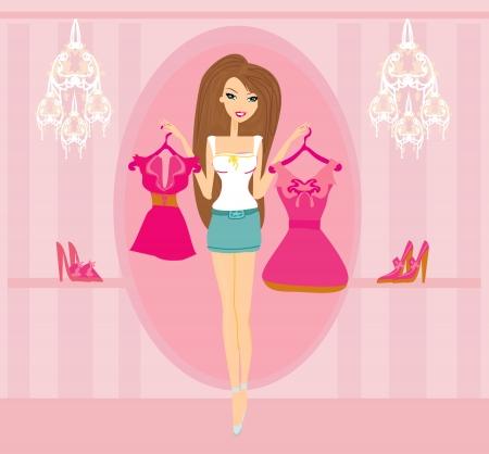 beautiful women Shopping  Illustration