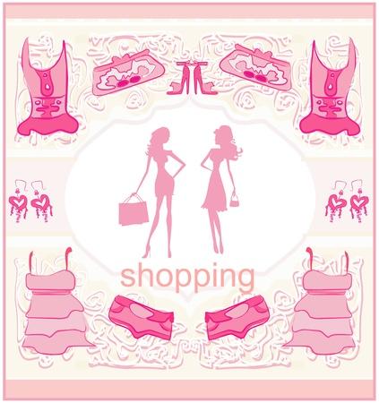 shoptalk: fashion silhouettes girls Shopping Illustration