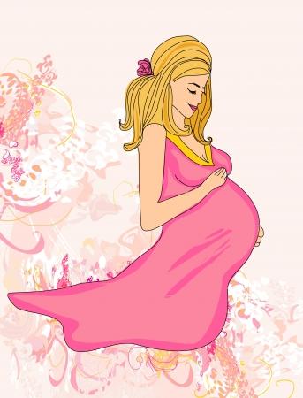Beautiful pregnant girl Illustration