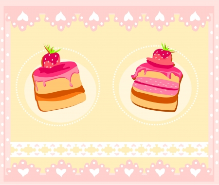 sweet dessert background  Vector