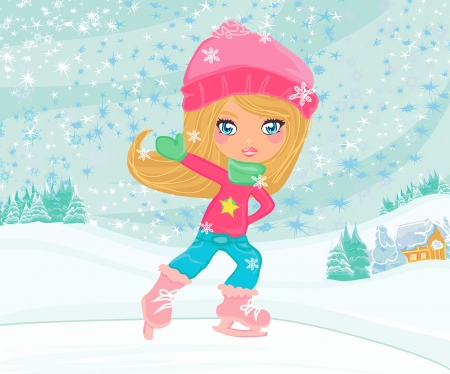 patinaje: Ni�a en patines