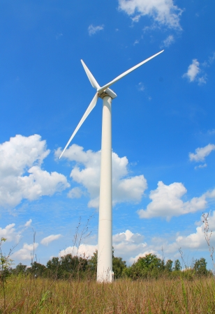 Wind turbine generating electricity Stock Photo - 14416965
