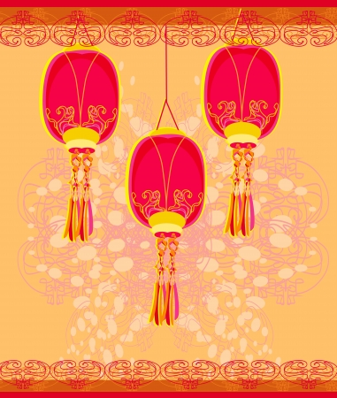 Chinese New Year card Stock Vector - 14416972
