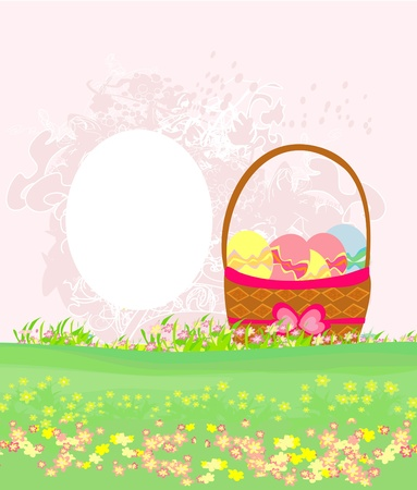 happy easter border.  Stock Vector - 14488571