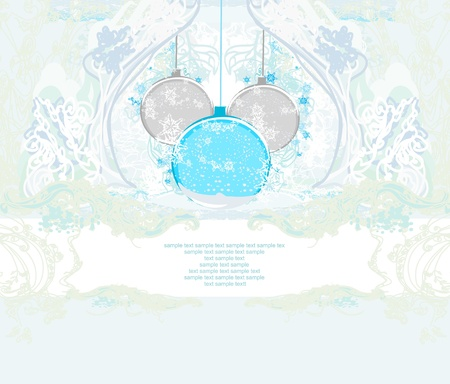 Christmas Framework style card  Illustration