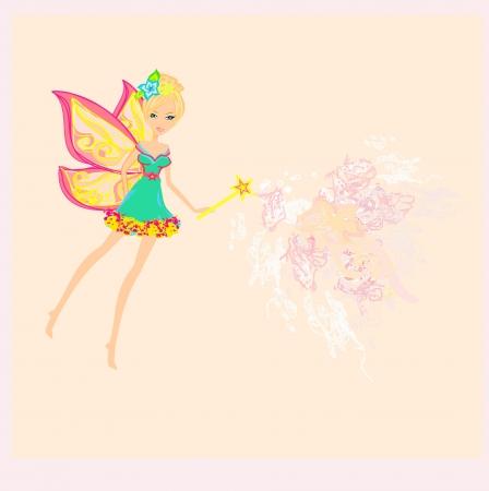 beautiful fairy illustration graphic  Illustration