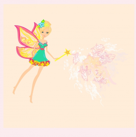 beautiful fairy illustration graphic  Vector