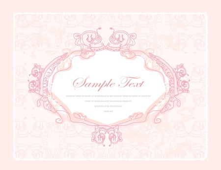 Beautiful floral frame with space for your text  Vector