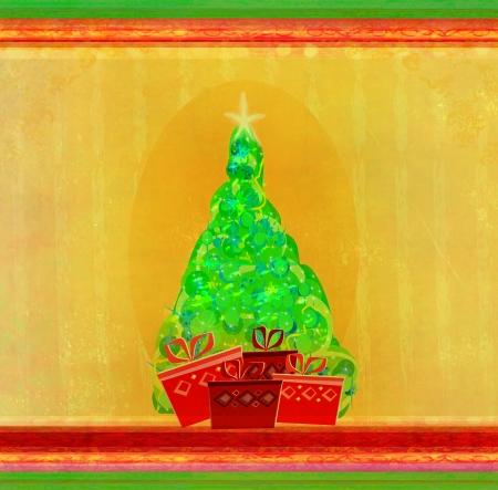 Abstract christmas tree card  photo