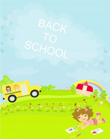 clip art draw: back to school