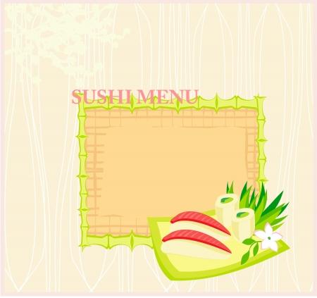 template of traditional Japanese food menu