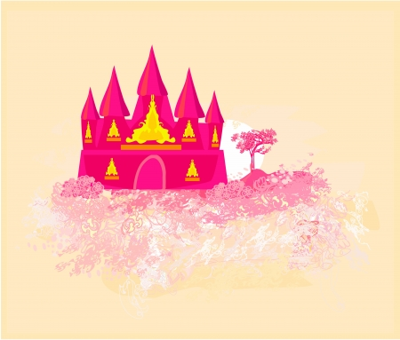 Magic Fairy Tale Princess Castle  Stock Vector - 14574764