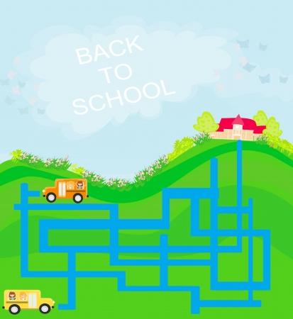 back to school - maze