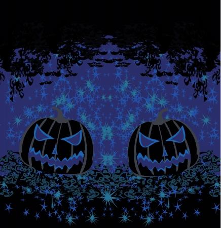 chap:  broken halloween pumpkin on grunge background  Illustration