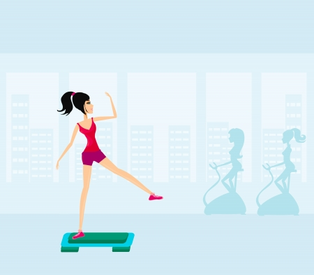 step fitness: exercise on aerobic step