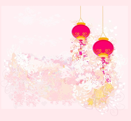 chinese background:  Chinese New Year card  Illustration
