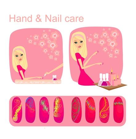 Hand & Nail care Vector