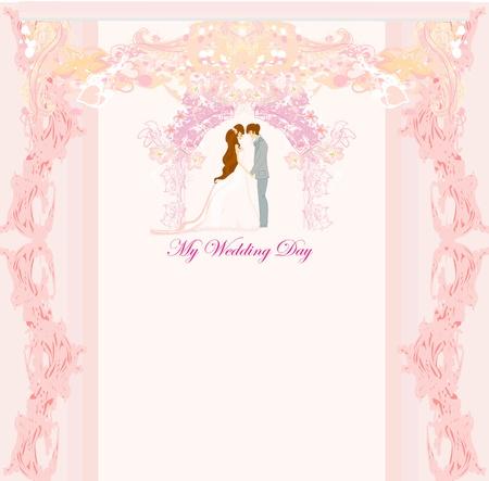 Invitación elegante de la boda Foto de archivo - 14812191