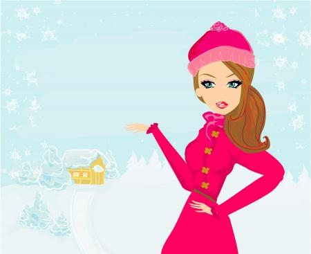 mooie winter meisje