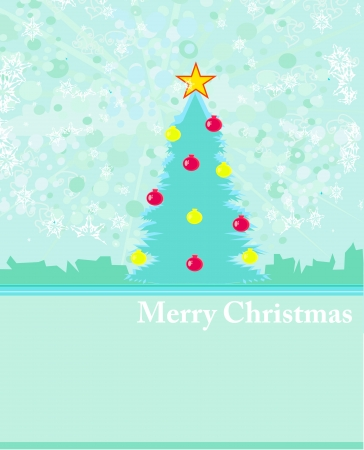 Abstract christmas tree card Stock Vector - 14812231