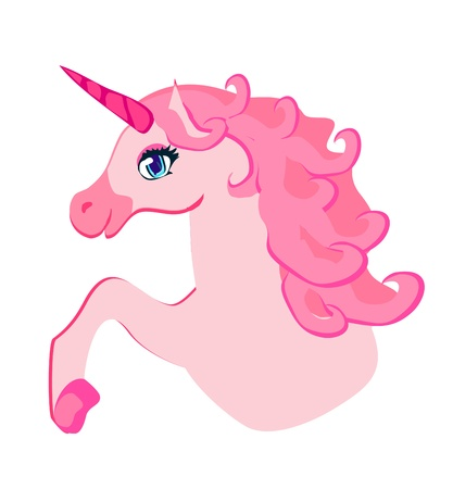 Illustration of beautiful pink Unicorn.