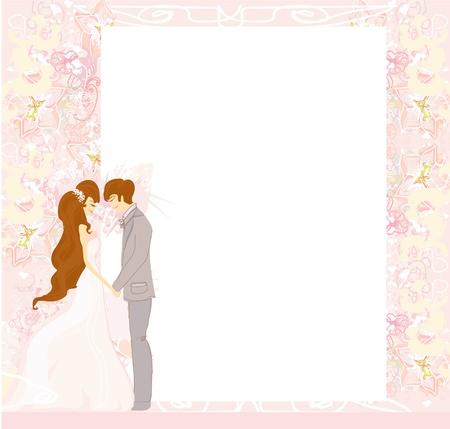devotion:  elegant wedding invitation  Illustration