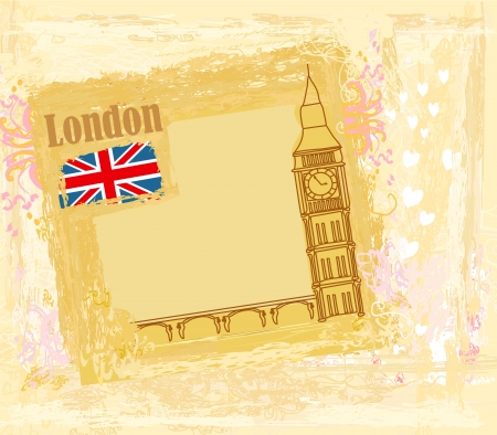 Grunge banner with London Stock Vector - 15197907