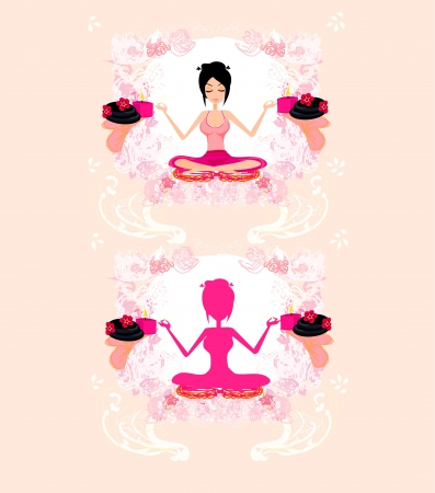 Girl in Yoga pose  Stock Vector - 15197906