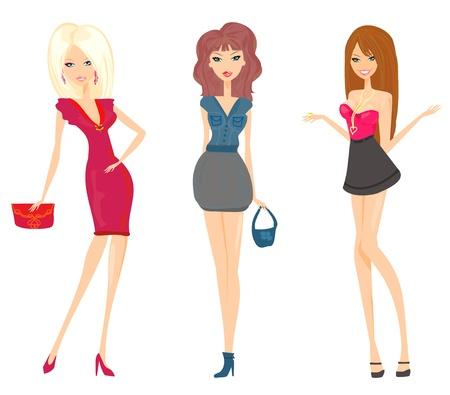 fashion shopping girls set